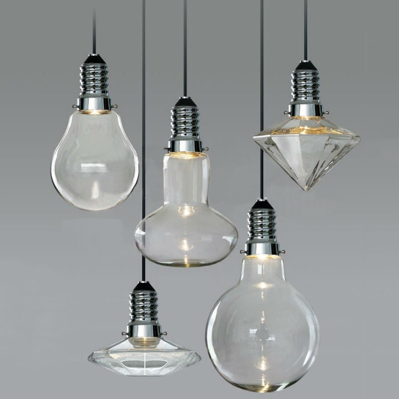 Modern vintage industrial glass led retro ceiling light pendant item specifics aloadofball Image collections