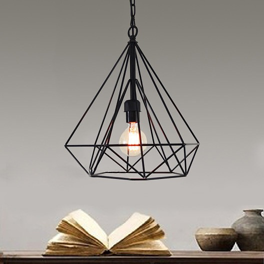 Modern Industrial Cage Shade Pendant Lamp Kitchen BAR Cafe