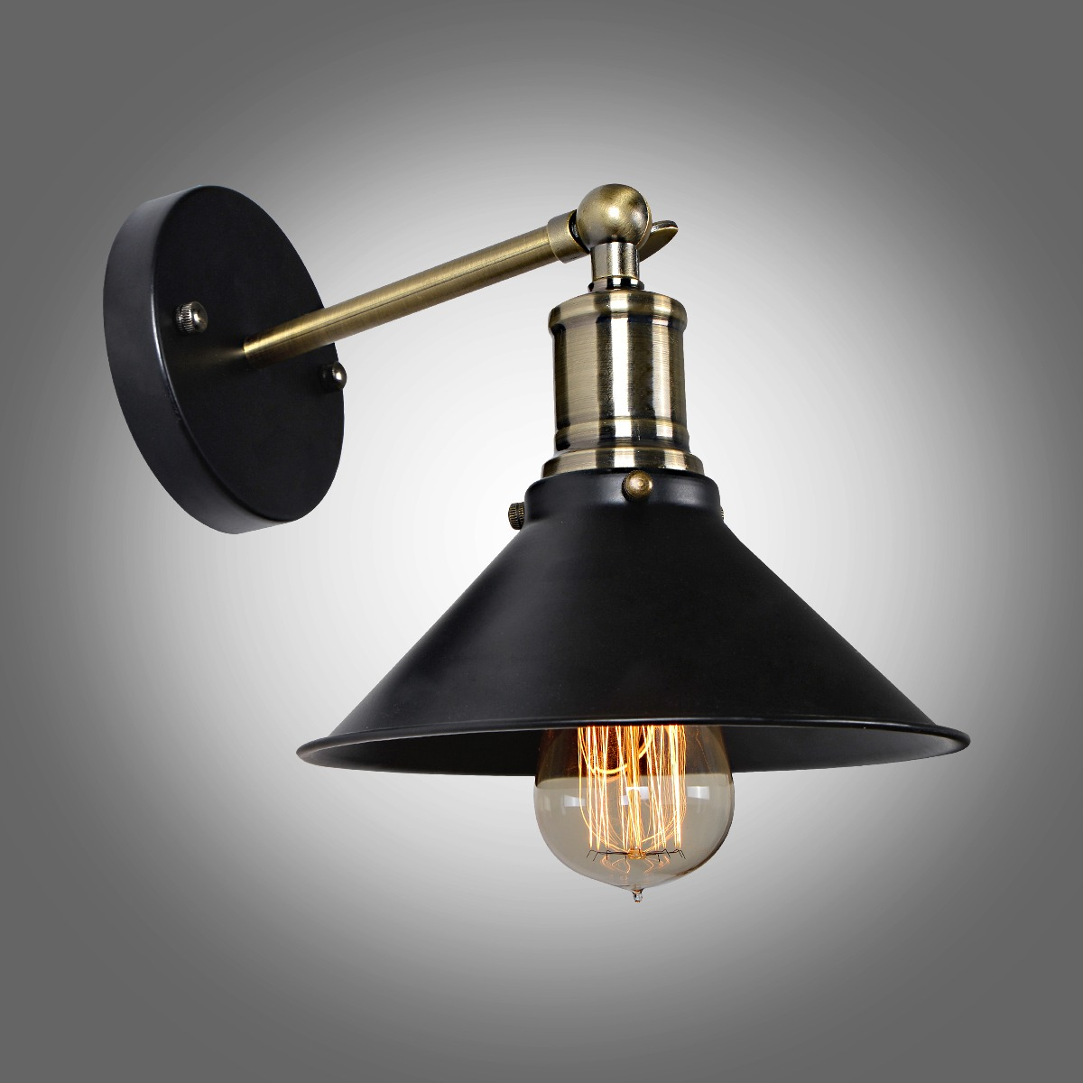 Black Retro Wall Lights : NEW Industrial Black Metal Vintage Wall Lamp Retro Wall Sconce Edison Lamp eBay