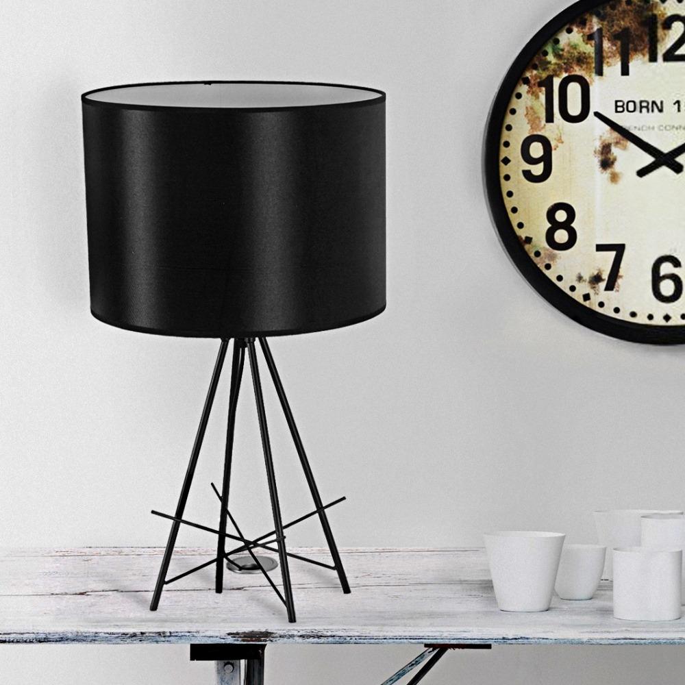 nuevo moderno negro retro lmpara de mesa escritorio luz estilo industrial