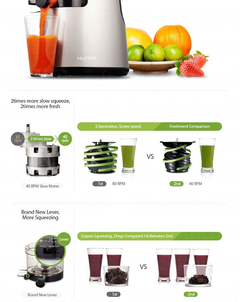 New Hurom Slow Juicer Extractor HH-SBF11 2nd Generation Fruit vegetable Citrus eBay