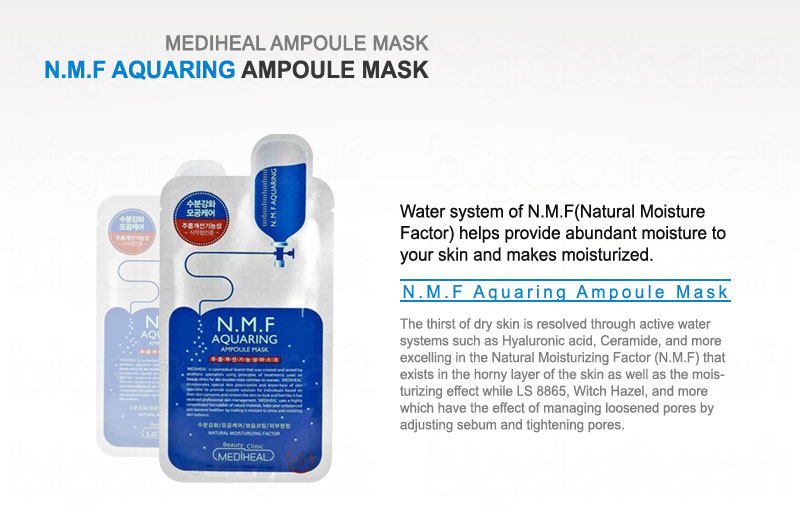 10pcs mediheal clinic n m f aquaring ampoule mask pack sheets made in korea