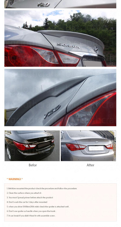 New Rear Trunk Lip Spoiler Painted For Hyundai Sonata 2011