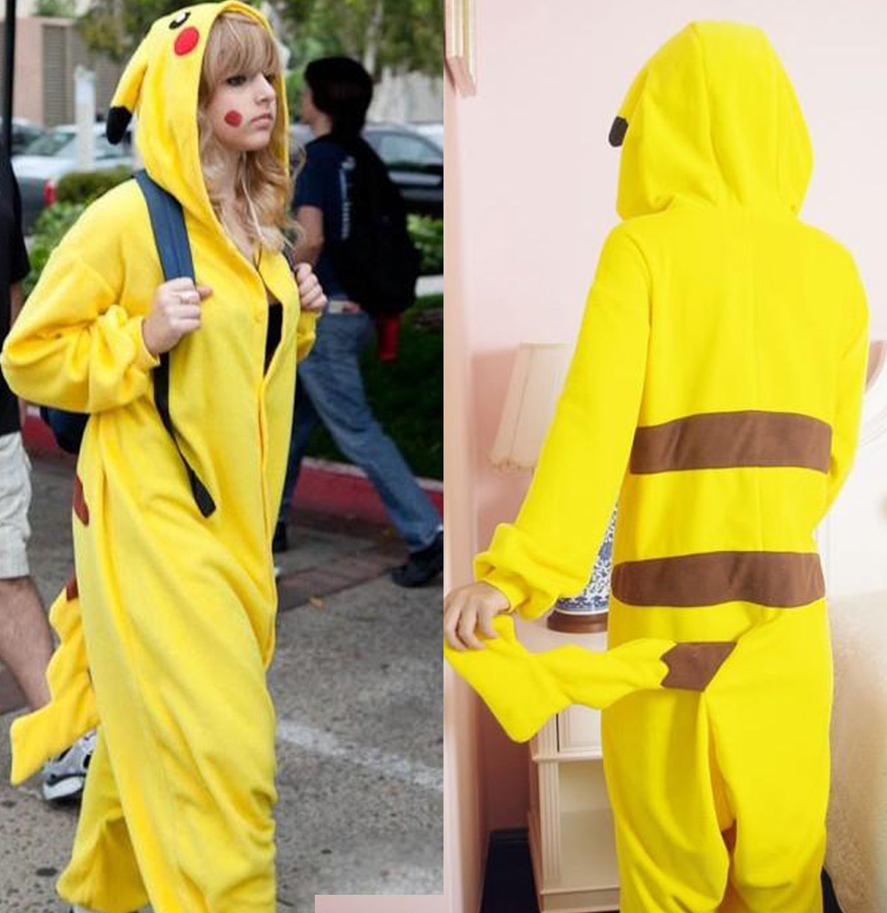Cosplay-Romper-Japan-Anime-Pikachu-Pokemon-Kigurumi-Pajamas-Hoodie-Pyjamas