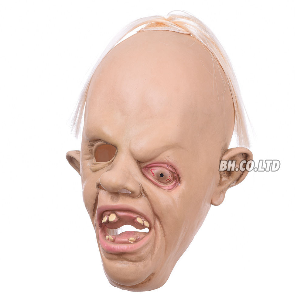 COOL MENS SLOTH LATEX FULL MASK GOONIES HALLOWEEN PARTY FANCY ...