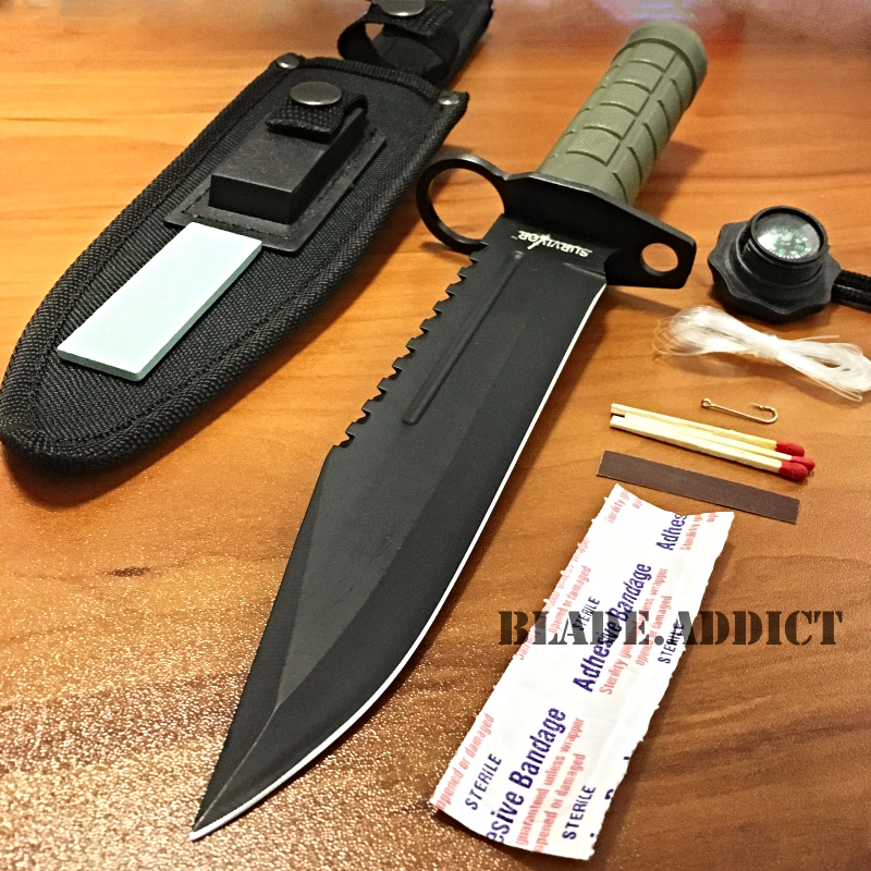 "Rambo Knife Survival Kit 12"" Tactical Hunt..."