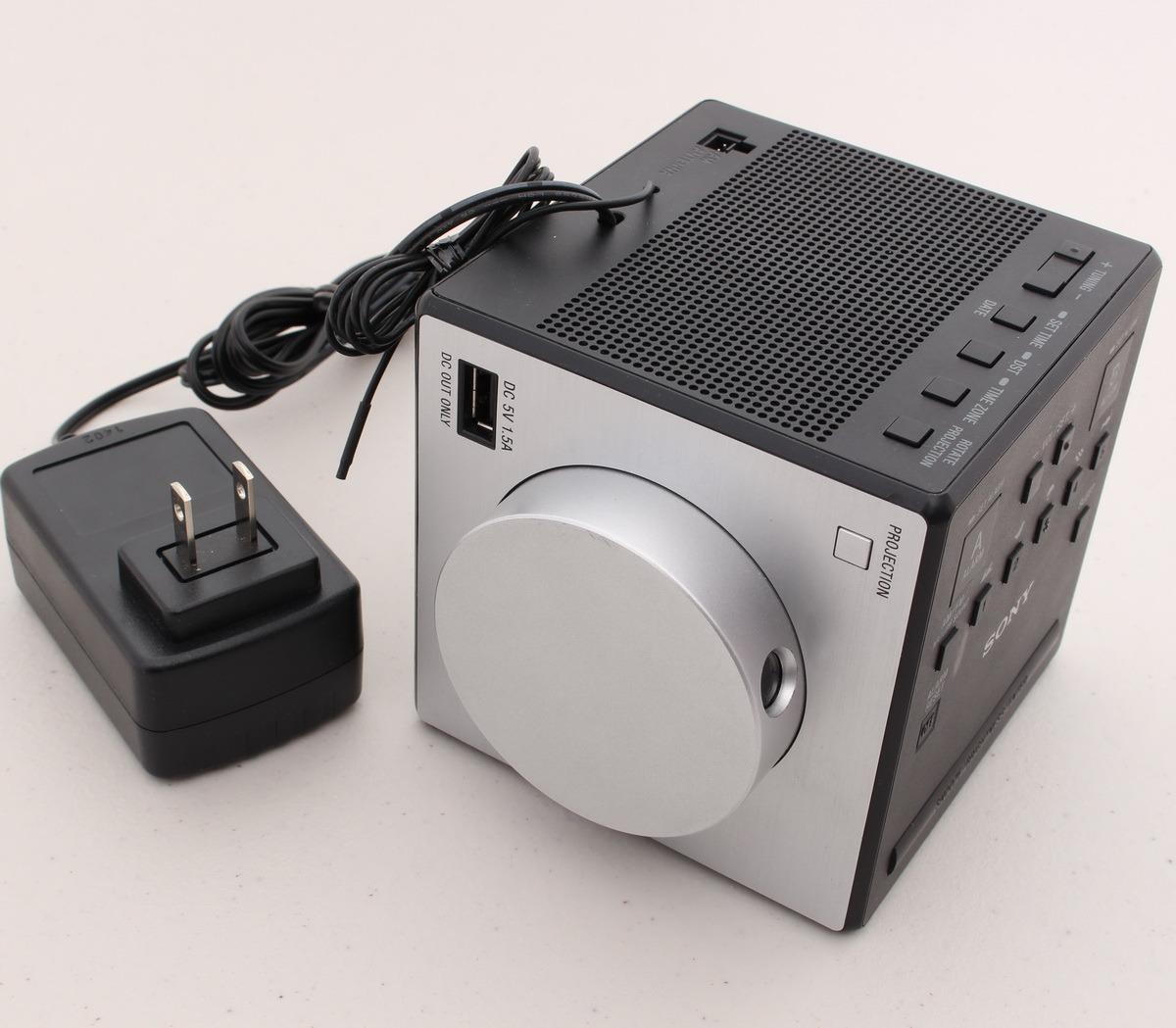 sony alarm clock radio time projection large lcd display icfc1pj icf c1pj used. Black Bedroom Furniture Sets. Home Design Ideas