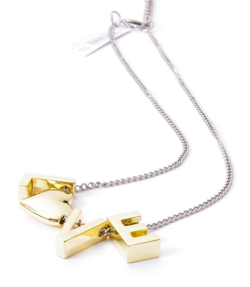 BCBGeneration BCBG Generation Love Heart Slide Charms Pendant Necklace