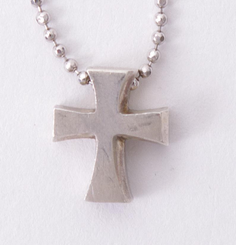 148 Alex Woo   925 Sterling Silver Little Faith Cross Pendant