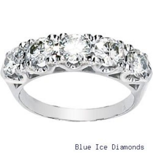 Moissanite 1 5/8 Ct Moissanite Anniversary Band 14k White Gold at Sears.com