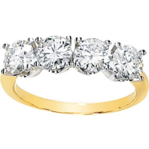 Moissanite 2 Ct Moissanite Anniversary Band 14k Yellow Gold at Sears.com