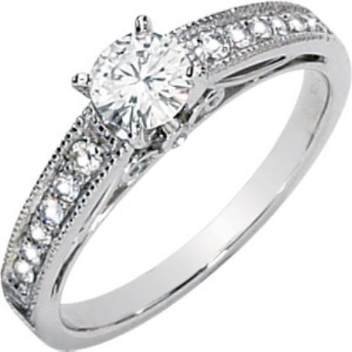 Moissanite Blue Ice Diamonds .66 Ct Moissanite & Diamond Engagement Ring 14k at Sears.com