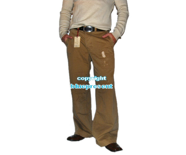 polo ralph mens khaki boot cut chino 40 30 ebay