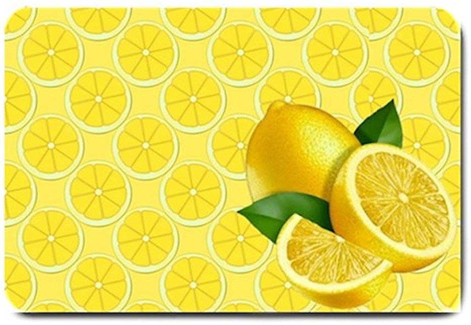 Yellow lemon design indoor doormat for the kitchen - Yellow kitchen floor mats ...