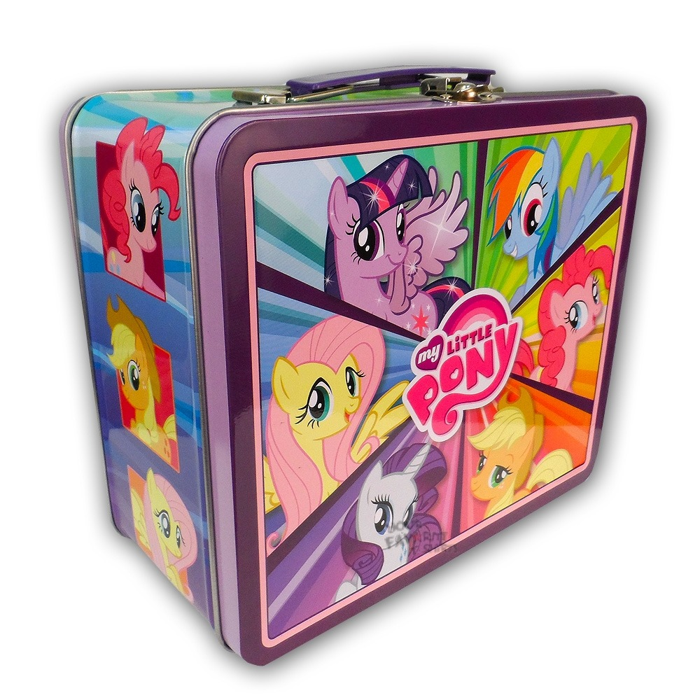 my little pony rainbow dash pinkie pie group mlp tin tote. Black Bedroom Furniture Sets. Home Design Ideas