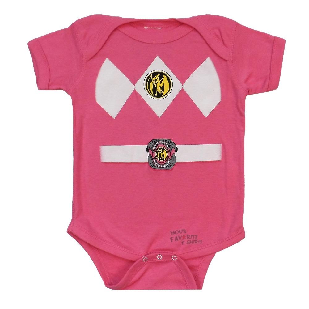 Power Rangers Pink Ranger Costume Licensed Baby Infant Snapsuit | eBay
