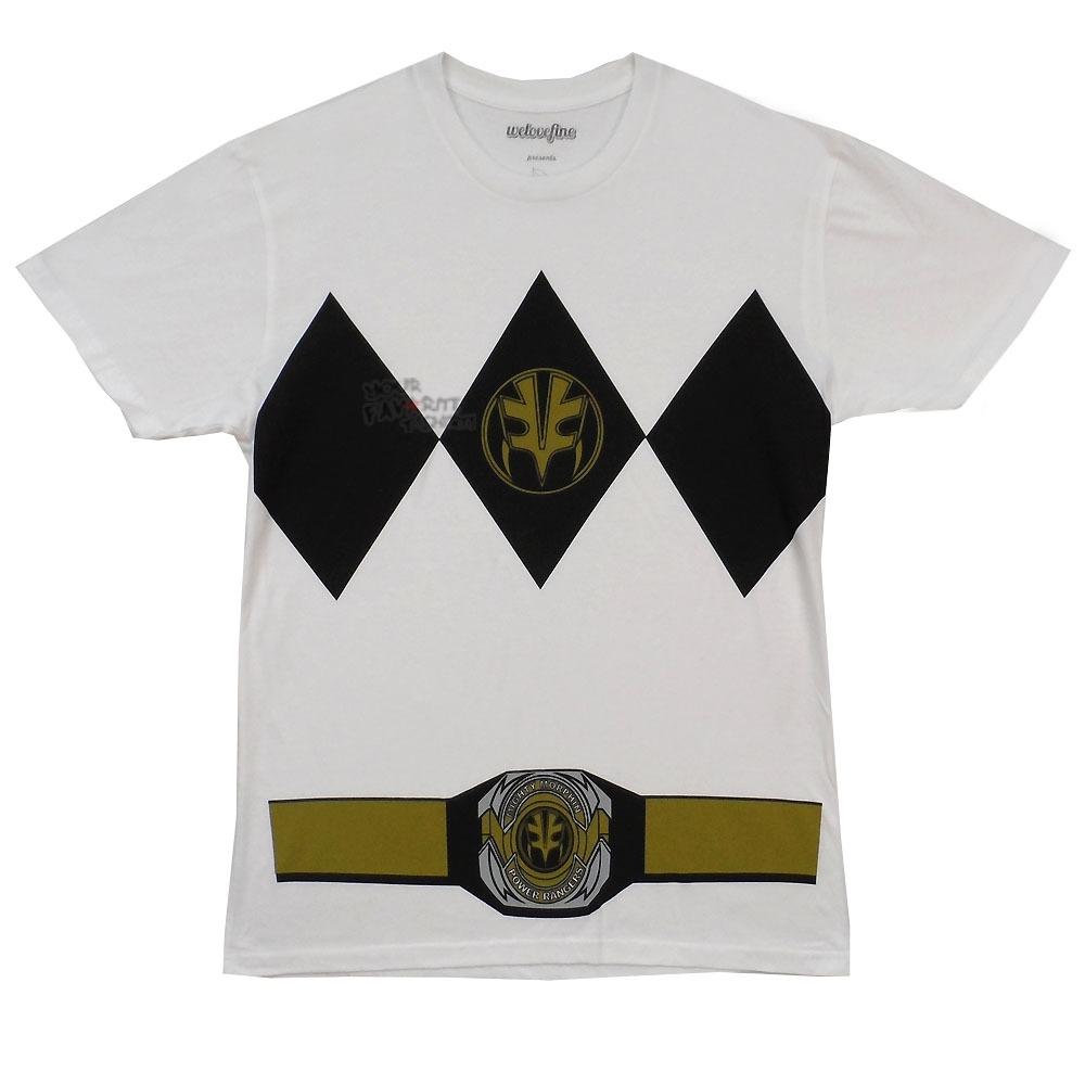 Power Rangers I Am White Ranger White Tiger Licensed Adult Shirt s ...