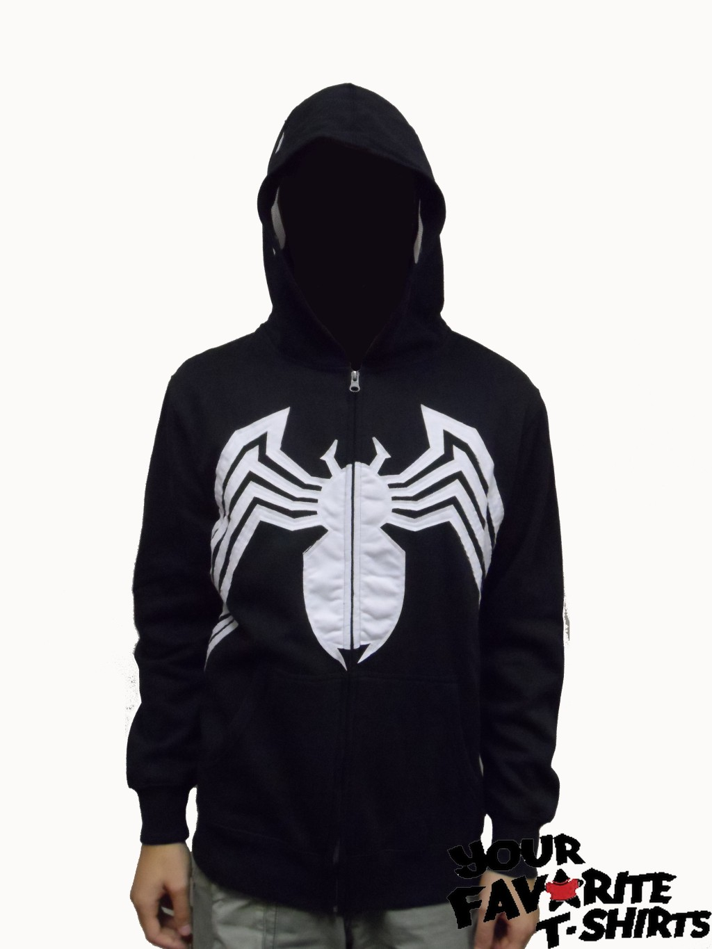 Venom Black Spider-Man Costume MC Venom Full Face Licensed ZipUp ...