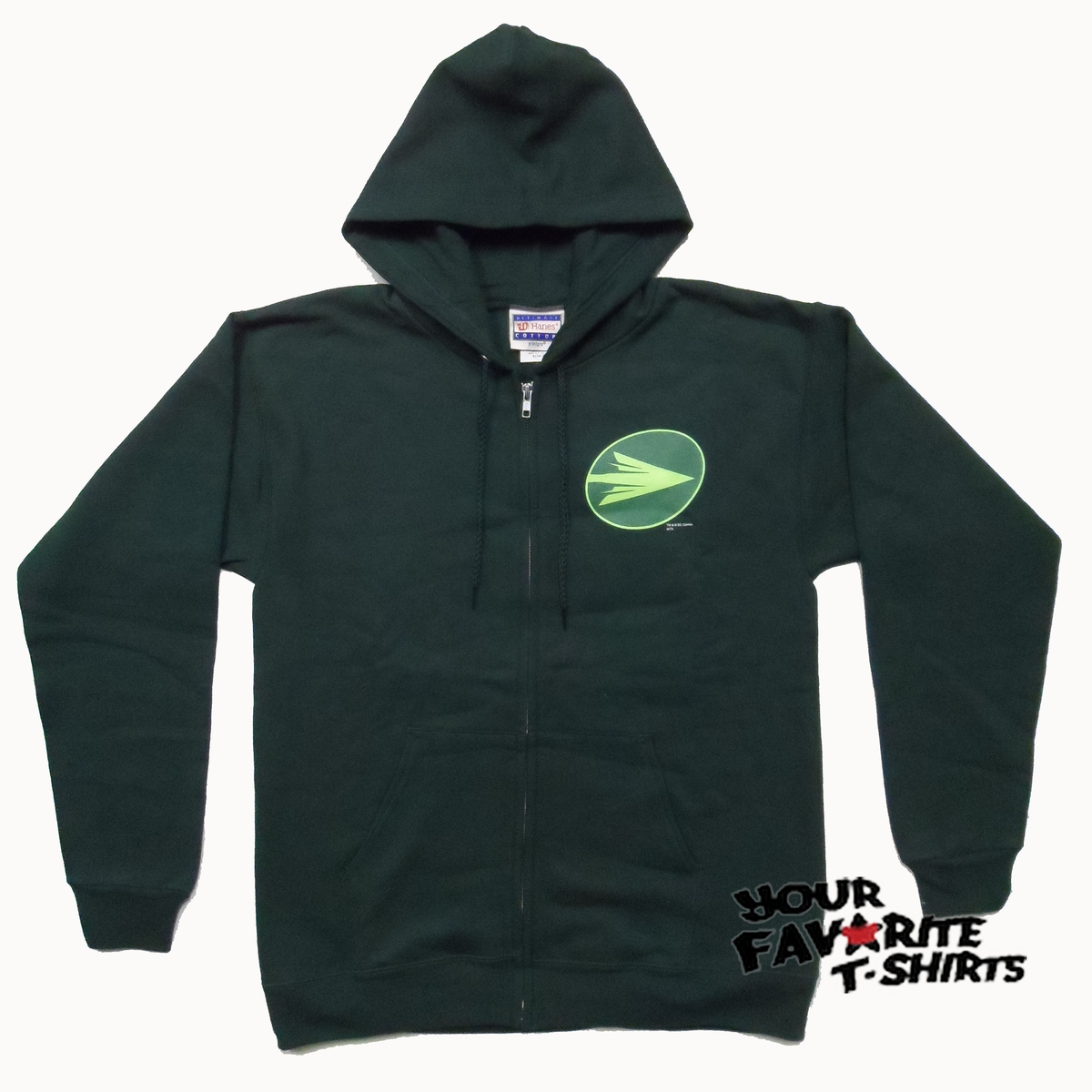 Arrow TV Show Green Arrow DC Comics CW Costume Licensed Zip Up Hoodie    Green Arrow Hoodie
