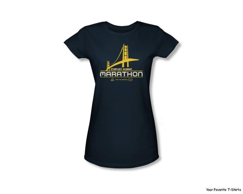 Licensed Star Trek Starfleet Academy Marathon Logo Junior Shirt S-XL