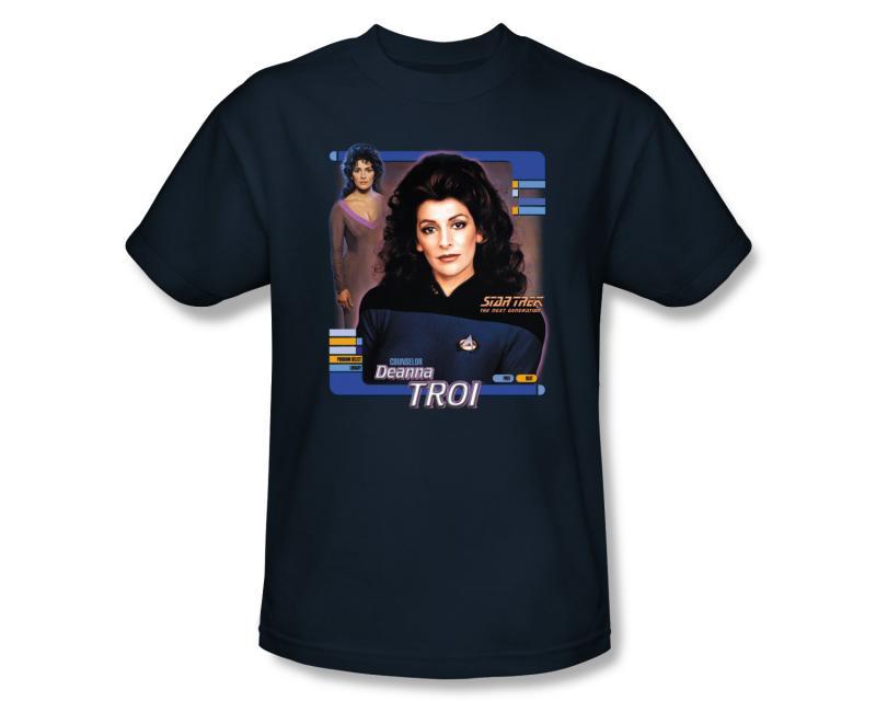Star Trek The Next Generation Deanna Troi Adult Shirt   eBay