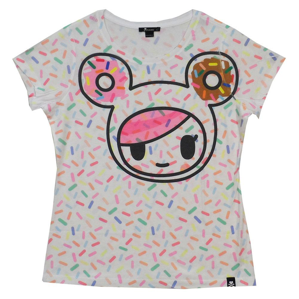 tokidoki donutella pop sprinkles allover licnesed woman junior shirt s xl