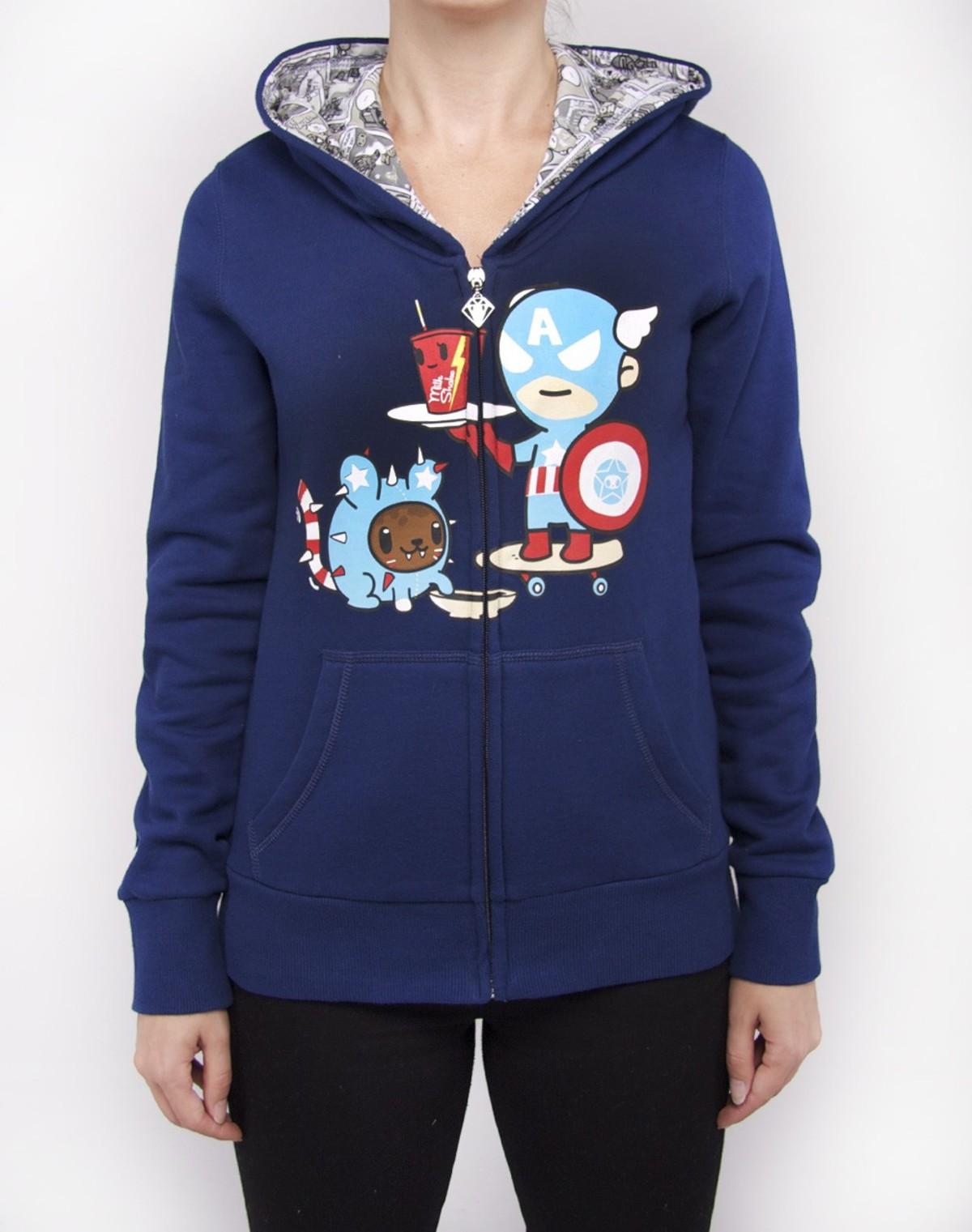 Captain America Milkshake Tokidoki x Marvel Licensed Junior Zip Up