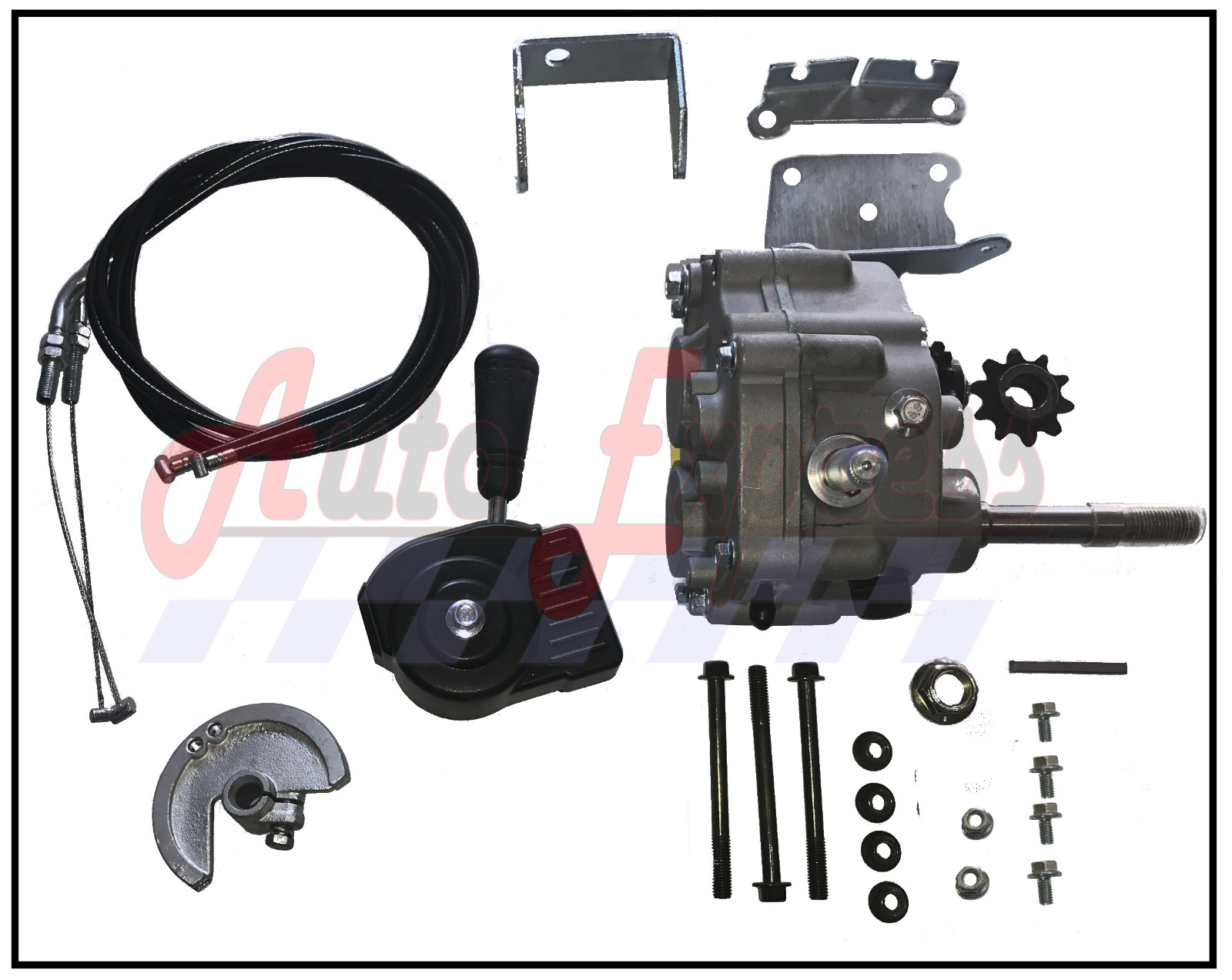 Forward Reverse Transmission : Go kart forward reverse gear box fit quot comet tav