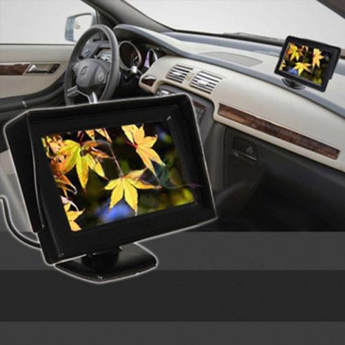"S5G 4 3"" TFT LCD Car Rearview Backup Color Monitor Screen Reverse Camera Kit DVD"