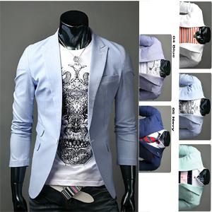 mens-linen-1button-slim-blazer-5-color-sz-US-XS-S-M