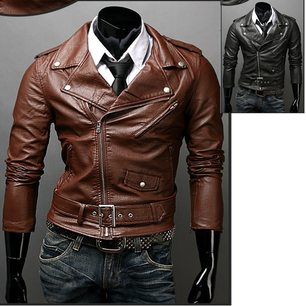 details zu lederjacke m nner schwarz jacke leder bikerjacke leather. Black Bedroom Furniture Sets. Home Design Ideas