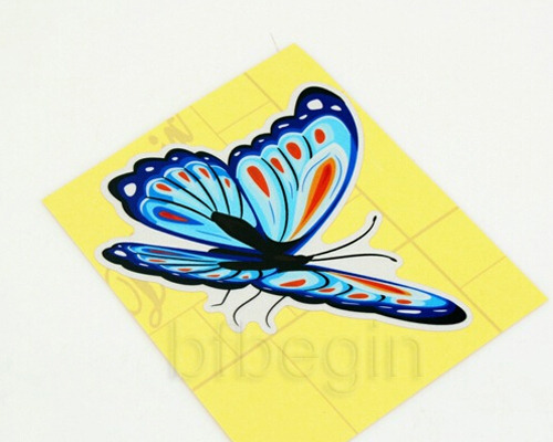 9x papillons autocollants r sistant l 39 eau tuning butterflies stickers voiture ebay - Stickers resistants a l eau ...