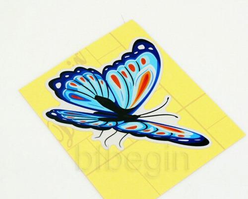 9x papillons autocollants r sistant l 39 eau tuning butterflies stickers voiture ebay. Black Bedroom Furniture Sets. Home Design Ideas