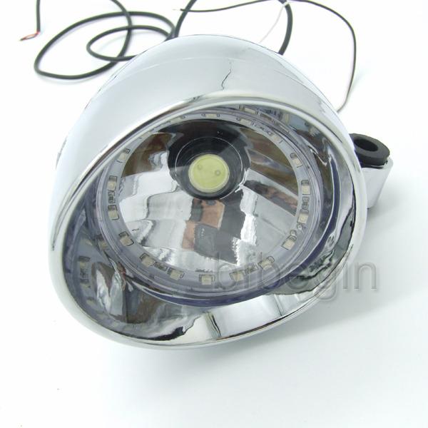 universal motorrad 27 led scheinwerfer beleuchtung f r. Black Bedroom Furniture Sets. Home Design Ideas