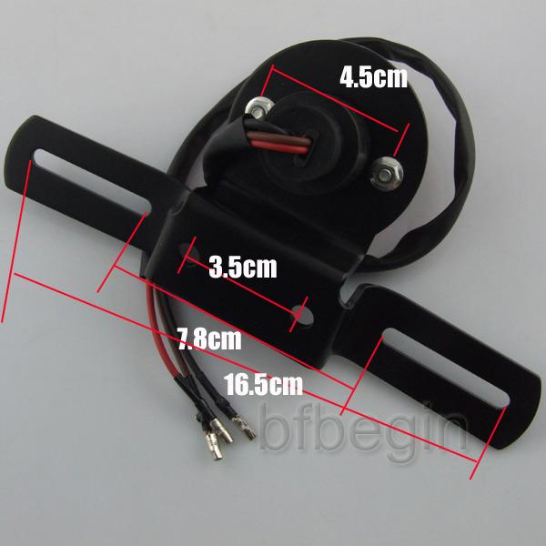 motorrad fahrrad led r cklicht bremslicht kennzeichen f r. Black Bedroom Furniture Sets. Home Design Ideas