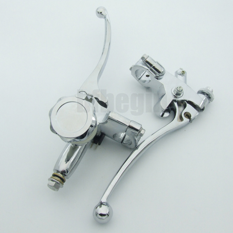 Hydraulic Clutch Reservoir : Quot motorcycle chrome hydraulic brake master cylinder