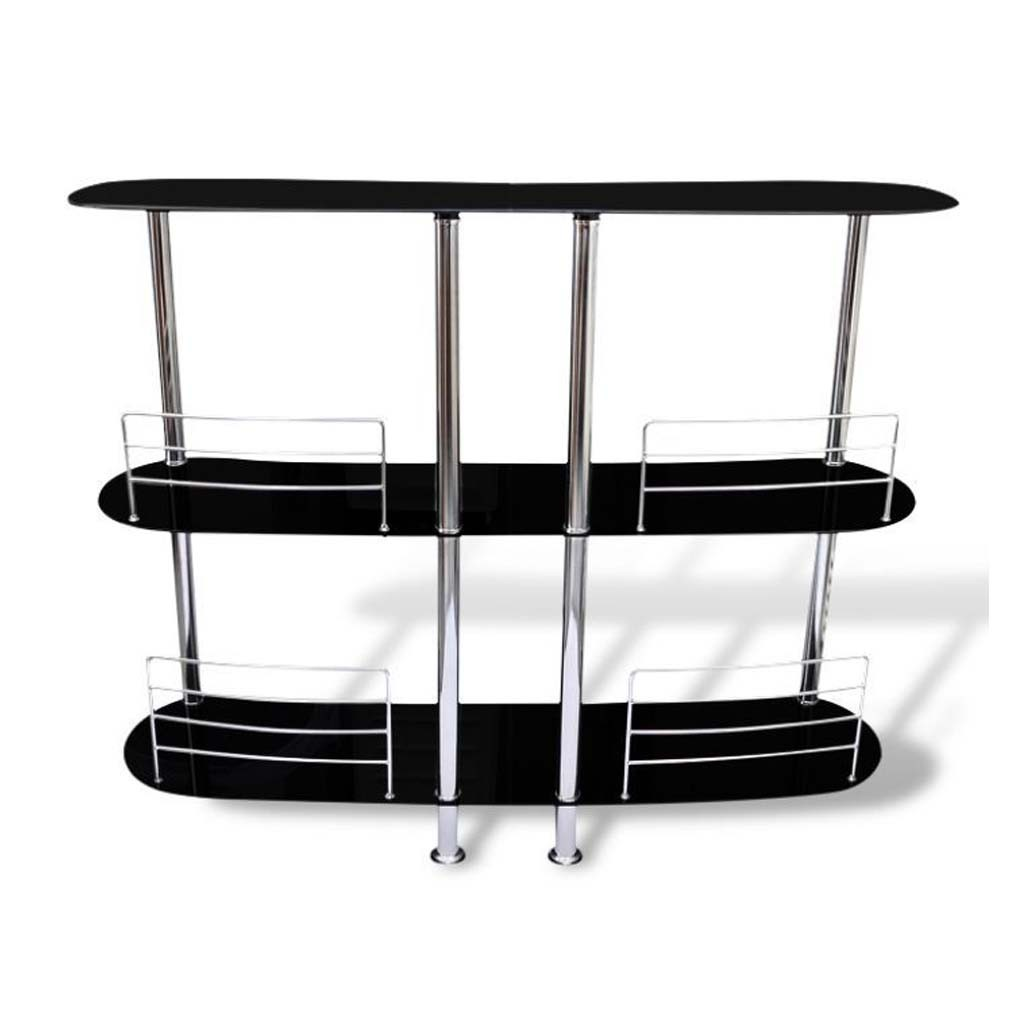3 tiers glass home pub drinks bar wine entertainment - Home drinks bar furniture ...