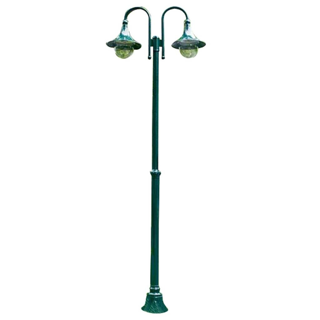 Outdoor Electric Lamp Post: Outdoor Garden Green 2 Light Lamp Post Electric Street