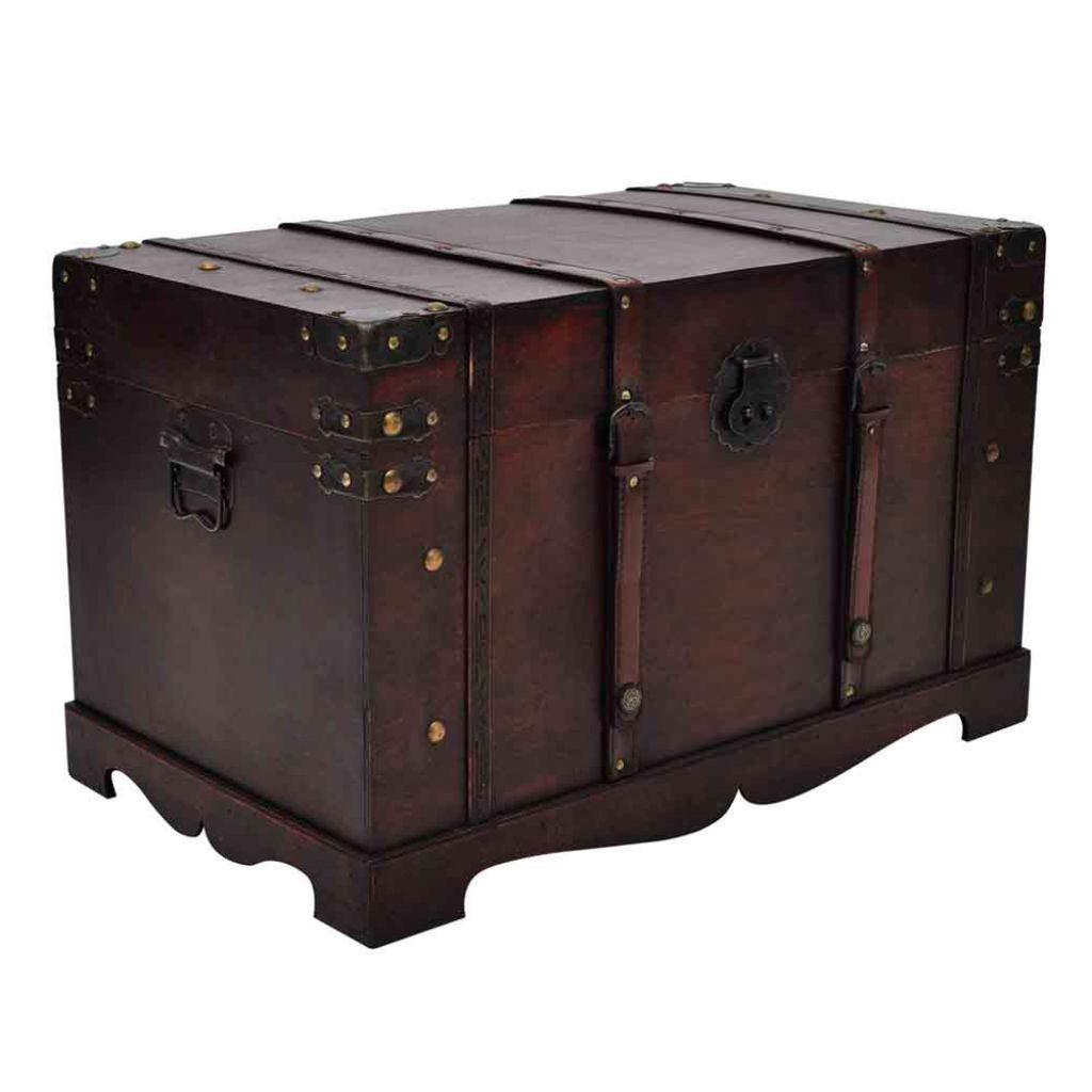 Uncategorized Chest Trunk Furniture brown wooden vintage large treasure storage chest box trunk craft productpicture0 productpicture1 productpicture2 productpicture3 productpicture4 productpicture5