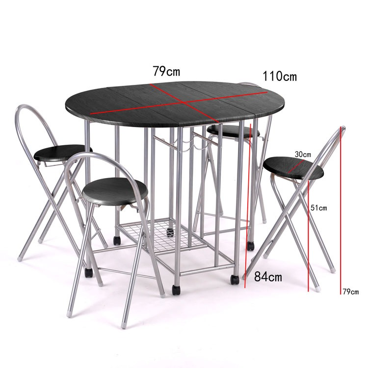 Kitchen Dining Dinnier Folding Unique Set Table And Set Of 4 Chairs
