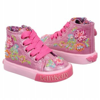Details about lelli kelly baby candy mid high top sneakers nib 6 1 2us