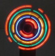 Mini Fan Multi Colored LED Flashing Lights Music