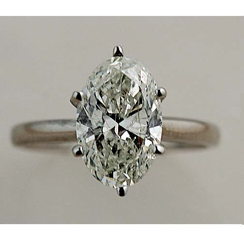 2 22 CARAT OVAL DIAMOND ENGAGEMENT SOLITAIRE RING FSI2