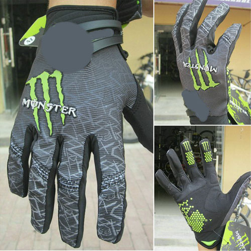 New-Outdoor-Cycling-Bike-Bicycle-Monster-Sports-Full-Finger-Gloves-Size-M-L-XL