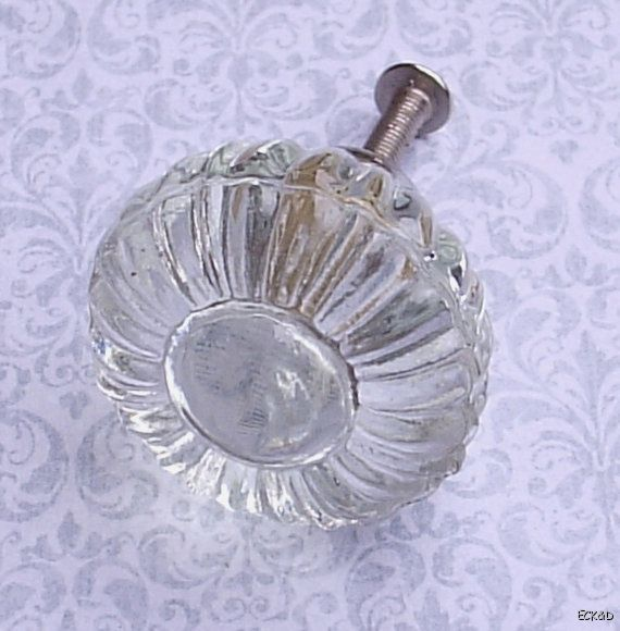 Glass Cabinet Knobs Drawer Pulls Shabby Antique Style Vintage Cupboards E