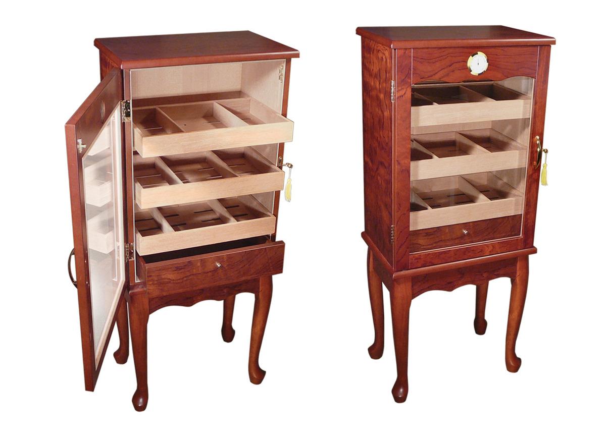 Large Cigar Humidor Cabinet Home Decor
