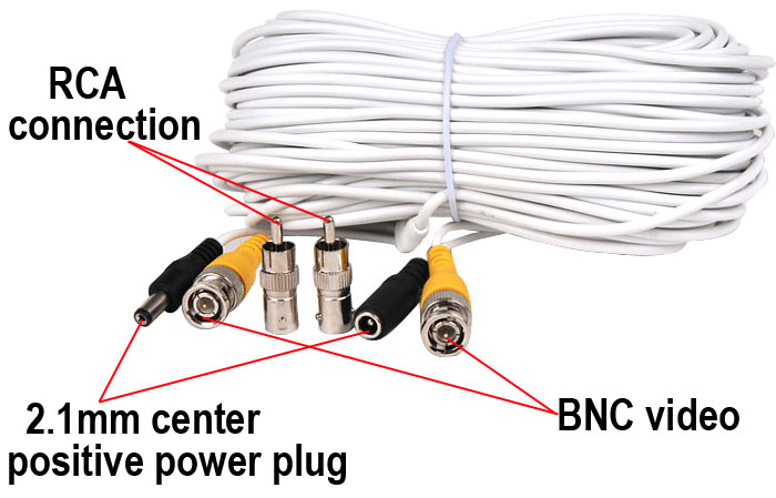 100ft security camera video power cable