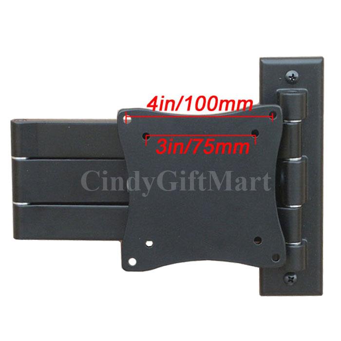 "LCD TV Monitor Tilt Articulating Arm Wall Mount Bracket 15 17 19 21 22 23"" 1E9"
