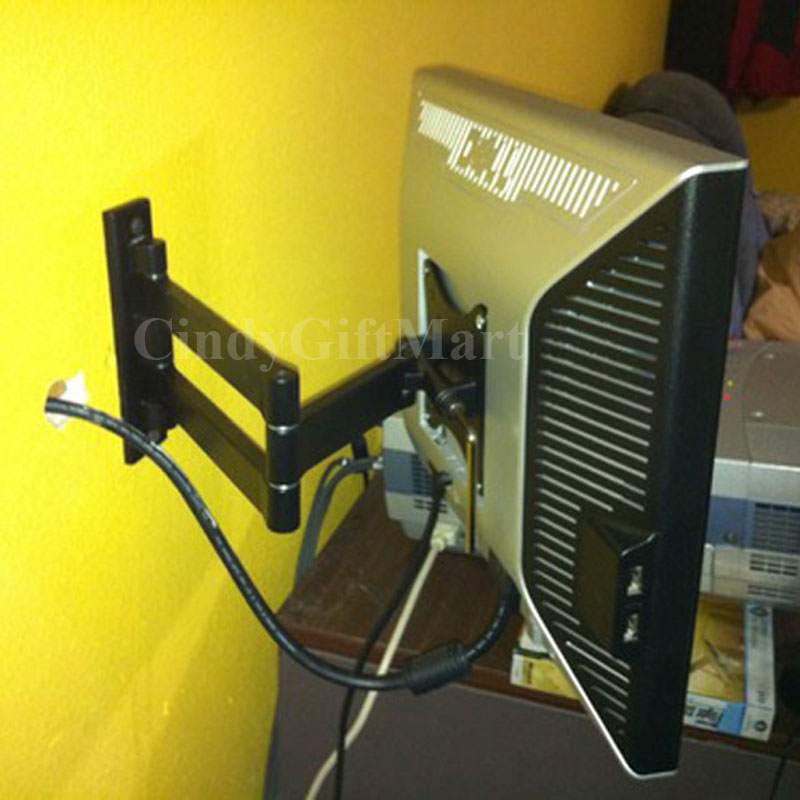 """Articulating Arm Tilt LCD LED Monitor TV Wall Mount 17 19 20 22 23 24 26 27"""" CE9"""