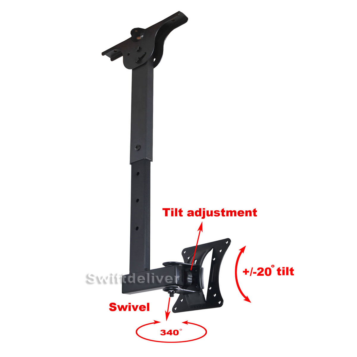 Tilt Swivel LCD LED Monitor TV Wall Ceiling Mount 15 17 19 20 22 23 24 26 27 CYB
